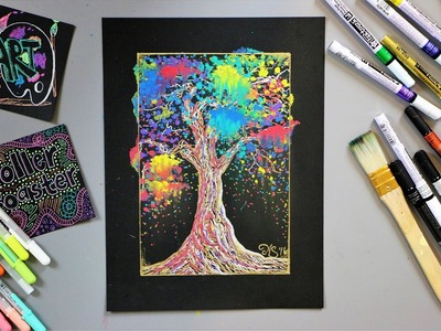 Rainbow Tree Painting - Paint Marker Lesson - What's in the Art Supply Goody Box?