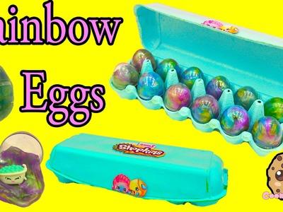 Shopkins Season 5 Petkins Blind Bags + Surprise Rainbow Goo Egg Carton Unboxing - Cookieswirlc