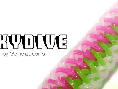 Skydive | Rainbow Loom Hook Only Design by @emeraldlooms