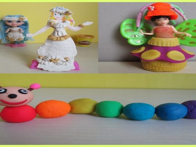 SNOW WHITE customize into Fairy Rainbow Caterpillar ARIEL vs RAPUNZEL Fashion Rivals Video