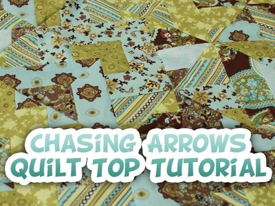 Chasing Arrows Jelly Roll Quilt Top Tutorial - Whitney Sews