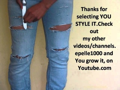 DIY: How to make holes in jeans the easy way