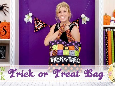 Glow in the Dark Trick or Treat Tote   with Jennifer Bosworth of Shabby Fabrics