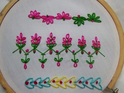 Hand Embroidery: Beginner Stitches (Border Stitch and more)