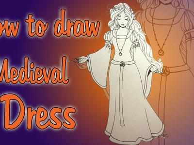 How to draw a medieval dress