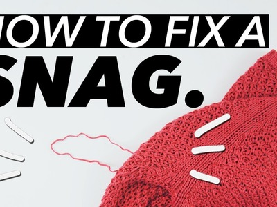 How to Fix a Snag.Pull in Knits! | WITHWENDY