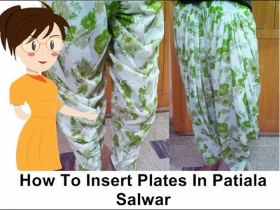 How To Insert Pleats In Patiala Salwar | DIY - Tailoring With Usha