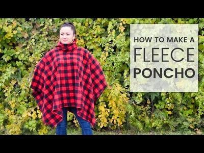 How to Make a Fleece Poncho