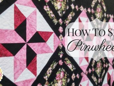 How to Sew Pinwheels | Shabby Fabrics