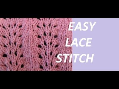 Knit Pattern *EASY LACE STITCH *