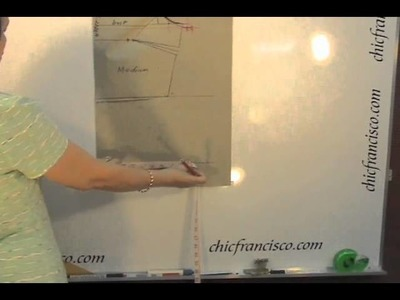 Lesson 2-1  Introduction Part 1a - Pattern Making of a Basic Dress with Waistline