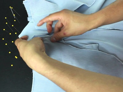LESSON 5 - Making a pants -How to sew a front inserted pocket