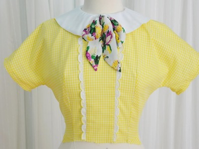 Making a 1950's Dress. Yellow Gingham, Part One