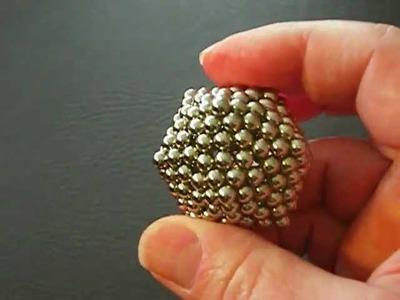Making a Dodecahedron Turn Into An Icosahedron with Buckyballs (Nanodots) - 192 Balls