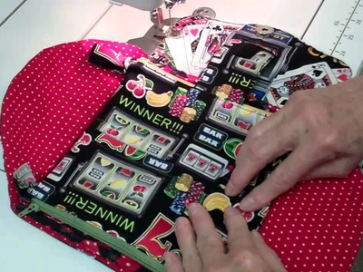 Making a double zipper pouch for NCW using Directional Fabric