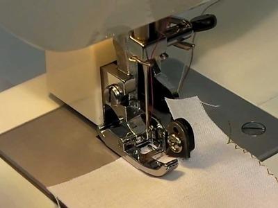 SIDE CUTTER tutorial video - Pied surjet-coupant