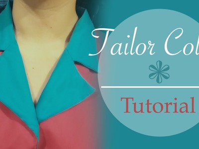 Tailor collar. Notched collar - tutorial, patterns, cutting, stitching- Cloud Factory