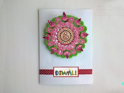 "DIY: Handmade Quilling Diwali ""DIYA"" Card Making Tutorial- HAPPY DIWALI (GIFT)"