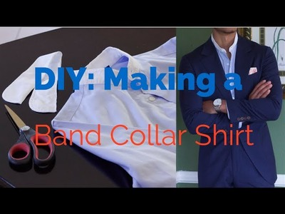 DIY: How to Make a Band Collar Shirt