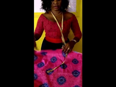How to cut African wrapper. iro