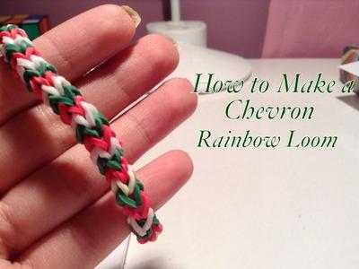 How to Make a Chevron Rainbow Loom Bracelet