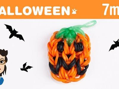 How to make a Halloween Jack-o-lantern pumpkin loom band charm