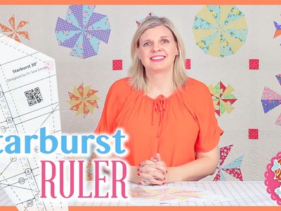 How to Use Creative Grid's Starburst 30 Degree Triangle Ruler Creative Grids #CGRISE30
