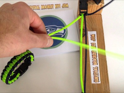 Seattle Seahawks Two Color Paracord Survival Bracelet Instructions easy step by step