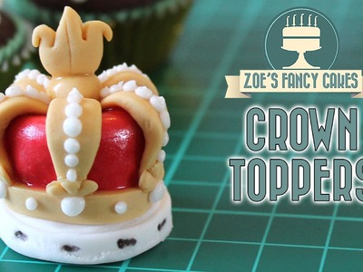 Crown cake toppers for the Queens 90th birthday celebration
