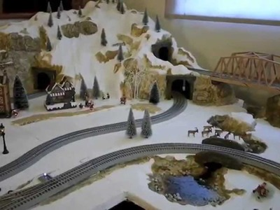 How to make a Christmas Village Railroad