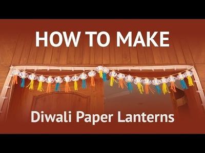 How to Make Diwali Decoration with Paper Lanterns! ( Diwali, Christmas, New year Celebration )