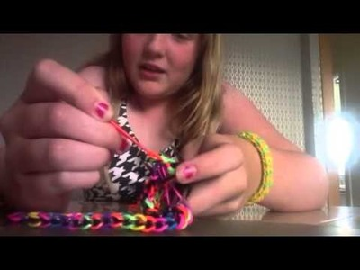 How to make easy triple single loom bracelet with 2 forks