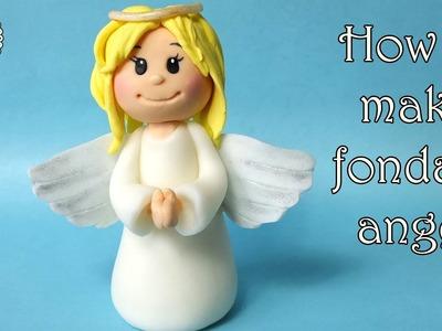 How to make fondant angel. Jak zrobić aniołka z masy cukrowej