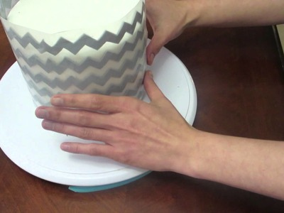 How to make fondant Chevron Pattern for a Cake
