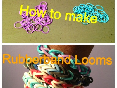 How to make rubber band bracelets WITHOUT LOOM KIT
