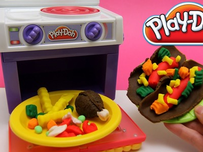 Play-Doh Kitchen Mexican Tacos recipe play dough by Unboxingsurpriseegg