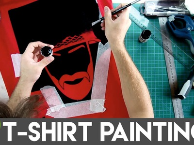 How To Paint T-shirt Using Your Own Stencil