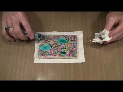 Alcohol Ink & Ceramic Tile: Creative Combinations by Joggles.com