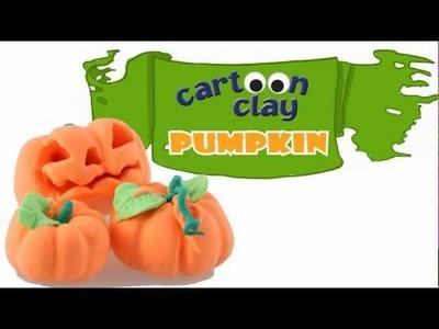 Art Lesson: How to Make a Halloween Pumpkin Using Cartoon Clay