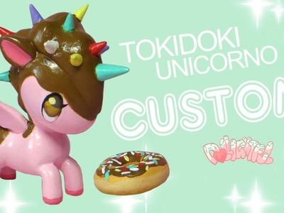 Custom TokiDoki Unicorno Series 4 Chocolate Doughnut Repaint!