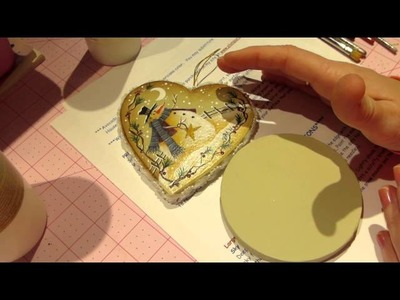 "Decorative Painting tutorial; ""Winter Wonderland"" Ornament, Part 1"