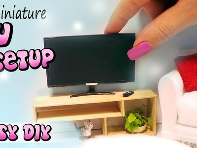 Easy Miniature.Doll TV, Remote & Stand Tutorial. DIY dollhouse