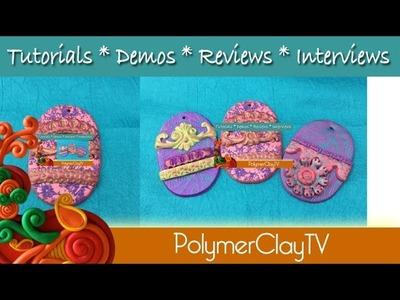 Fun and Easy Polymer Clay Easter Egg Ornaments and Basket Tags
