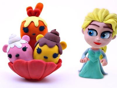How Elsa Makes Play-Doh Num Noms ----- Disney Frozen Stop Motion Animation