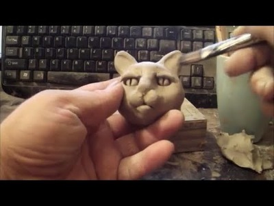 How To Sculpt A Cat Face In Clay