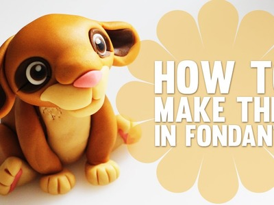 Learn how to make a cute Fondant Lion - Cake Decorating Modelling Tutorial