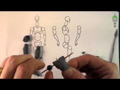Making a basic polymer clay action figure - Part 3