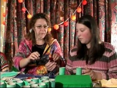 Making Christmas Crafts for Kids : Cutting Squares Out of Paper for Christmas Crafts for Kids