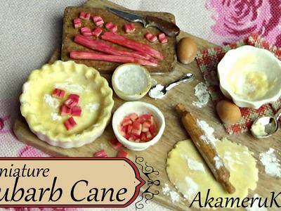Miniature baking scene - Rhubarb Cane Tutorial