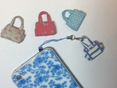 MINIATURE TUTORIAL - Doll house Purse handbag OR Mobile Phone iphone DIY Dust Cap Charm